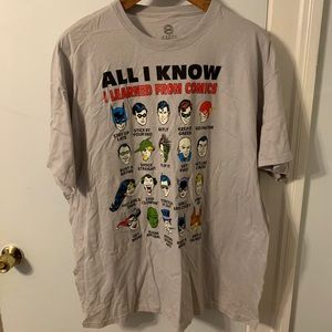 "DC Comics Shirts - DC Comics ""All I Know"" character T-Shirt, XXL"